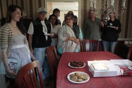 Gathering for dessert