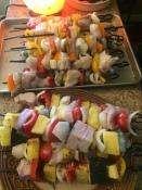 Delicious seafood kabobs