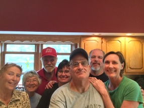 Aunt Debbie, Mockee, Uncle Mike, Cousin Cherlyn, Bob, Cousin Mike, Me