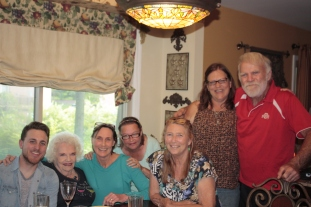 Aunt Joanie, Me, Cousin Kathy, Aunt Debbie, Cousin Lisa, Uncle Mike