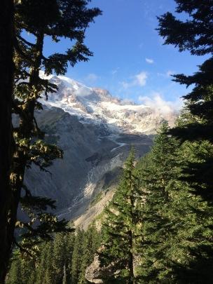 Mt. Rainier gravel slides