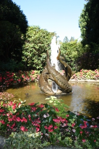 Great fountain in garden