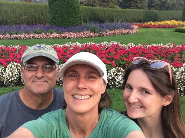 Family selfie in the gardens