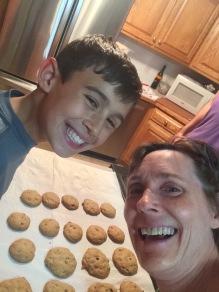 Luke and Lisa make chocolate chip cookies