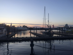 Victoria's seaport sunset