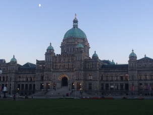 Parliament building in the evening