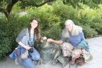 Alyssa and Bonnie with froggy friend