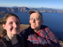 Alyssa and Bob at top of Crater Lake