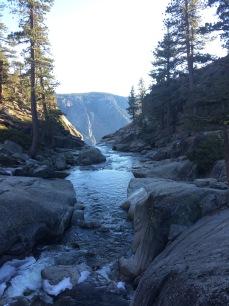 River at top of Yosemite Falls