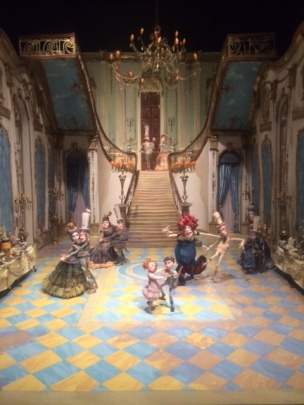 Portland Art Museum exhibit of Laika's Boxtroll's ballroom set design