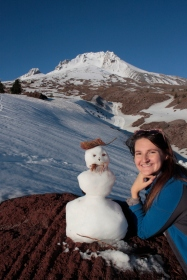 Alyssa's Mt. Hood snowman